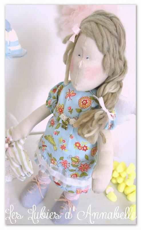 Poupée inspiration Tilda les lubies d'Annabelle face