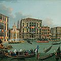 Vincenzo chilone, the regatta on the grand canal, venice, looking towards the palazzo foscari and palazzo balbi