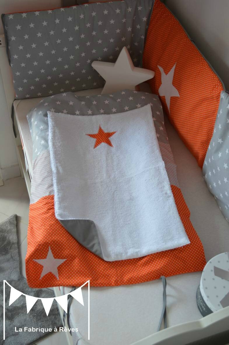 Chambre garcon orange et gris for Chambre ado orange et gris