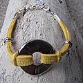 Bracelets en daim.