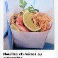 nouilles chinoises au gingembre