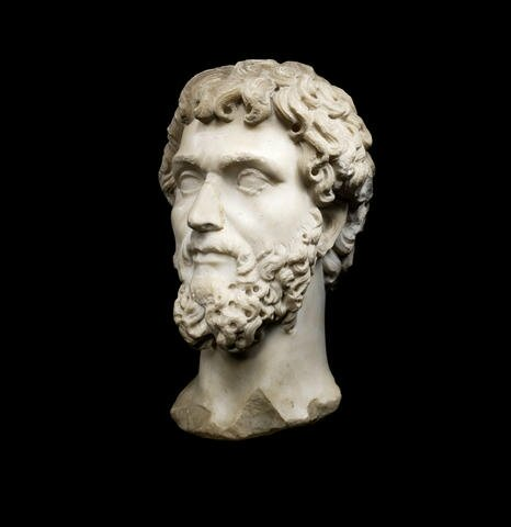 A Roman marble portrait head of the Emperor Septimius Severus, circa A.D 194