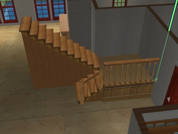 construire un escalier avec palier maisons deco sims2. Black Bedroom Furniture Sets. Home Design Ideas