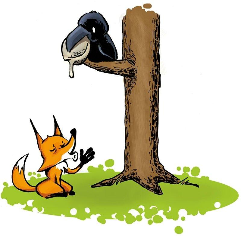Corbeau et renard image