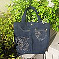 Sac fillette en jean recyclé