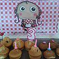 Melle l. a 3 ans...muffins d'anniversaire!