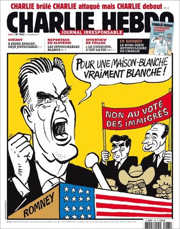 Cop, Fillon, Les Unes de Charlie Hebdo, Mitt Romney, prsidentielle, USA, lections 1063 une