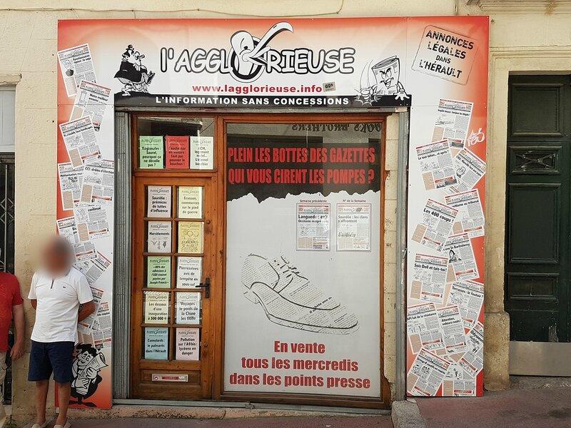 L 39 agglorieuse place edouard adam montpellier h rault journal devanture - Journal de montpellier ...