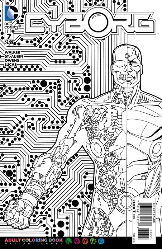cyborg 7 adult coloring variant