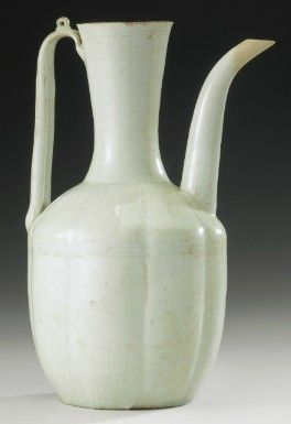 A Qingbai Lobed Ewer And Cover Northern Song Dynasty