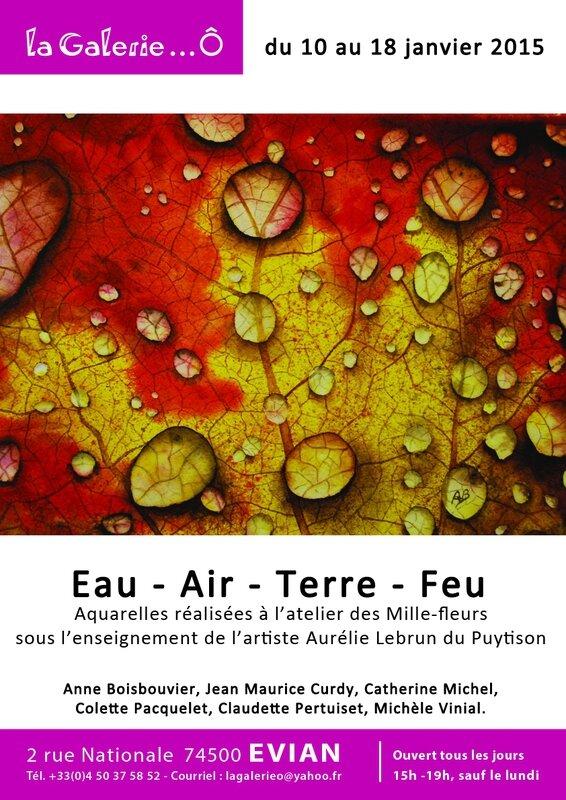 Affiche A3 Exposition Eau-Air-Terre-Feu