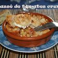 Concassé de tomates et Crumble