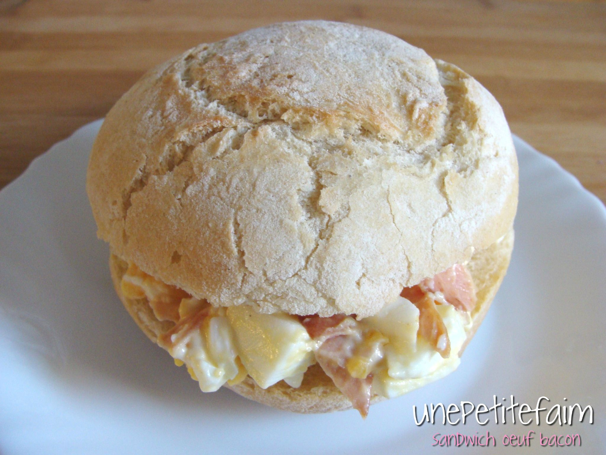 Sandwich oeuf bacon