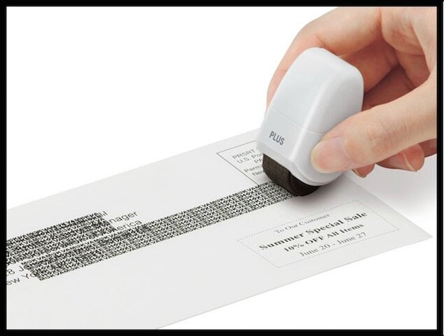 guard your id stamp roller brouilleur de texte 2