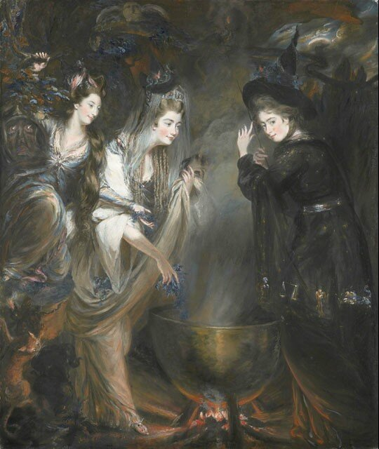 The Three Witches from Shakespeares Macbeth by Daniel Gardner