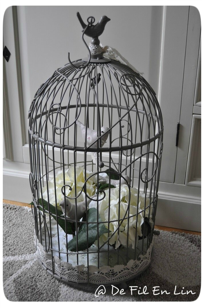 Cage oiseau photo de d co dentelle et brocante for Deco cage a oiseaux