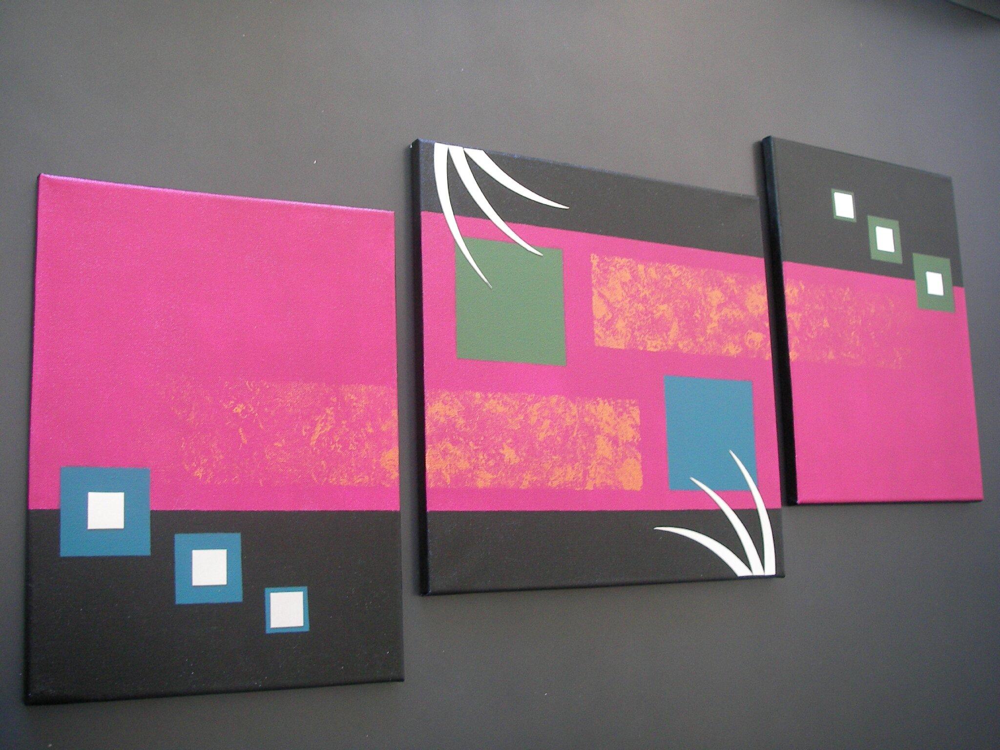 Triptyque toile simple triptyque toile portrait de lopard - Toile triptyque design ...