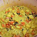 Curry de pois chiche au lait de coco
