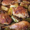 Braisé de poulet aux poireaux