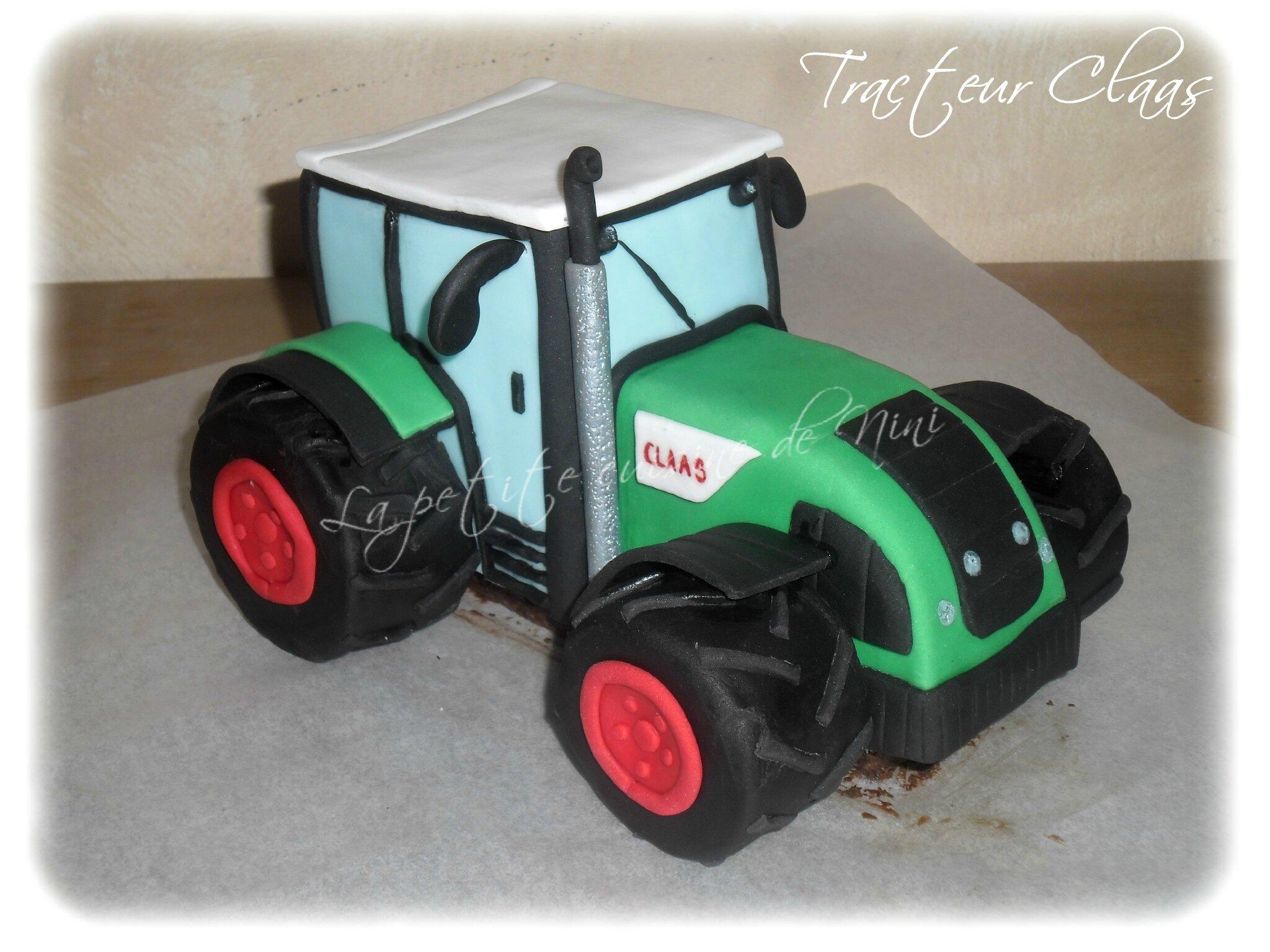 G teau d 39 anniversaire tracteur claas la petite cuisine - Tracteur rigolo ...