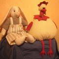 poule et lapin
