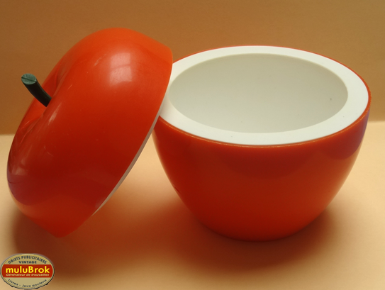 Objet vintage pomme gla ons orange mulubrok brocante en ligne - Objets vintage en ligne ...