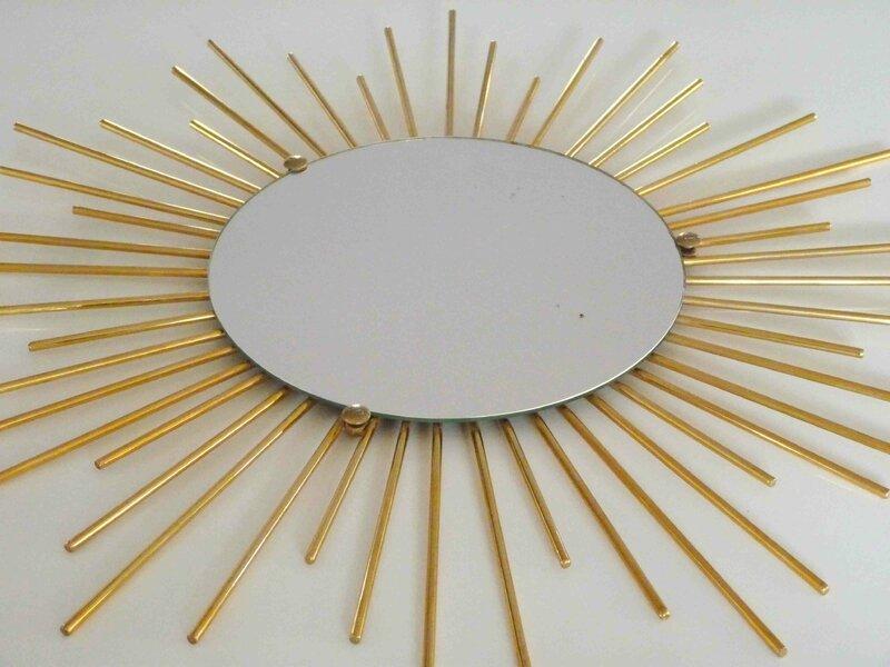 Miroir soleil laiton charlotsometimes for Miroir laiton