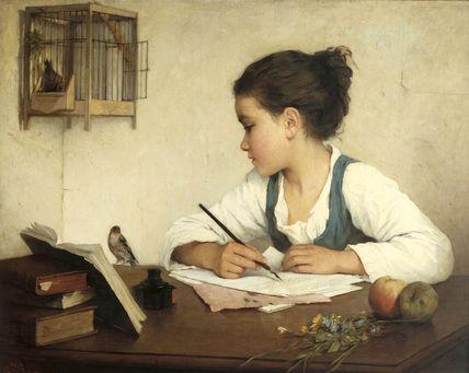 girlwritting