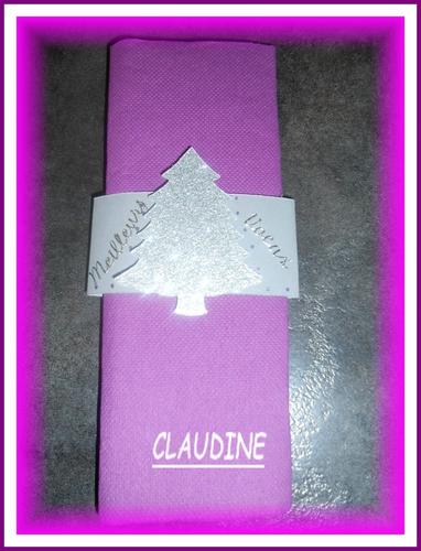 ROND DE SERVIETTES NOEL CLAUDINE