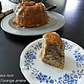 Gâteau aux noix glacé a l'orange amère