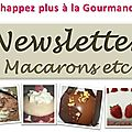 Newsletter macarons etc