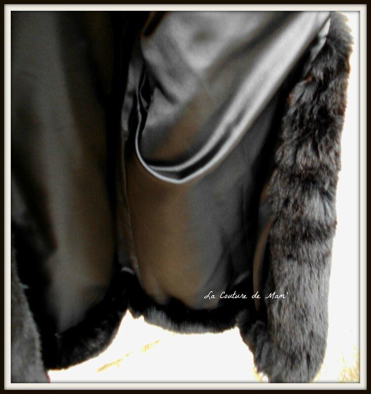 Veste en fausse fourrure noire