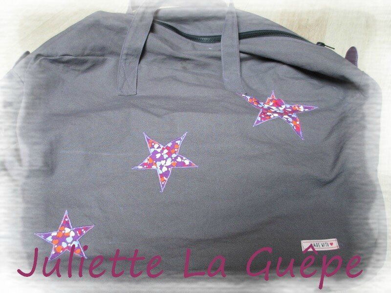 sac week end gris violet 5