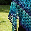South bay shawlette blue velvet