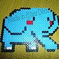 éléphant en perles à repasser