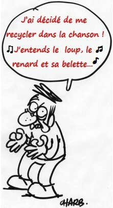Dessin Charb - recycler chanson