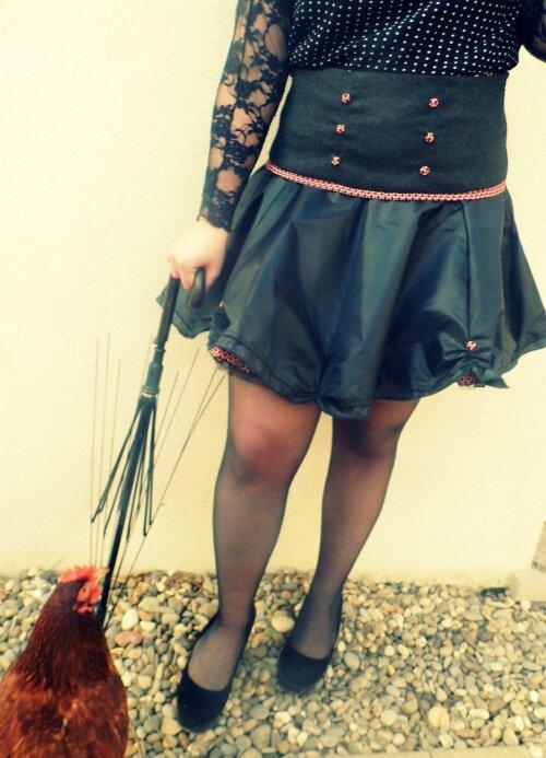 Jupe noire Parapluie et Ella Mars 2016