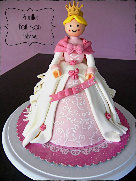 gateau playmobil princesse prunillefee