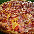 Tarte fine tomate & tomme