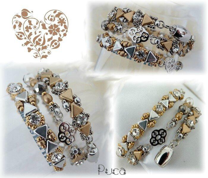 Planche bracelet Mady gold