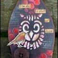Deux arches avec des chouettes et des oiseaux pour tando creative / two arches with owls for tando creative
