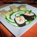 Duo de sushi bien cuits !