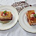 Mille feuilles pain harrys tomates et rillettes de saumon