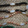 Malachite ; rocailles et pierres