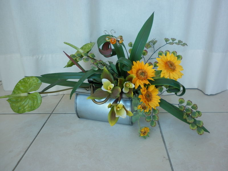 Composition florale divers supports les cr ations d co de marsouille - Faire des compositions florales soi meme ...