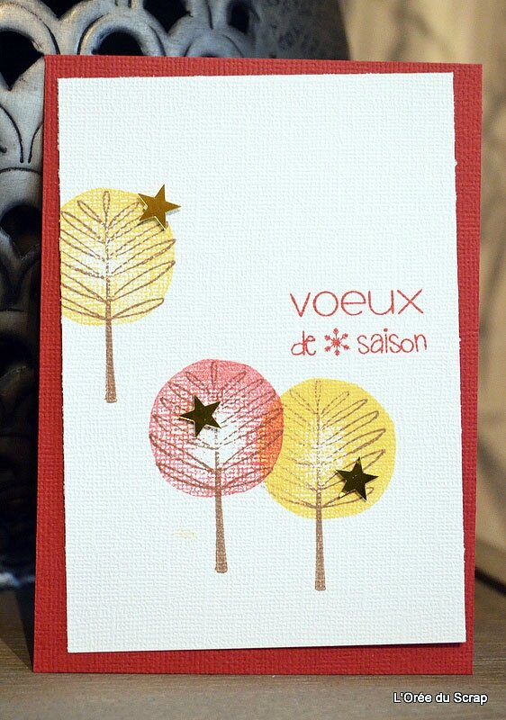 carte blogorel stampin up all trees
