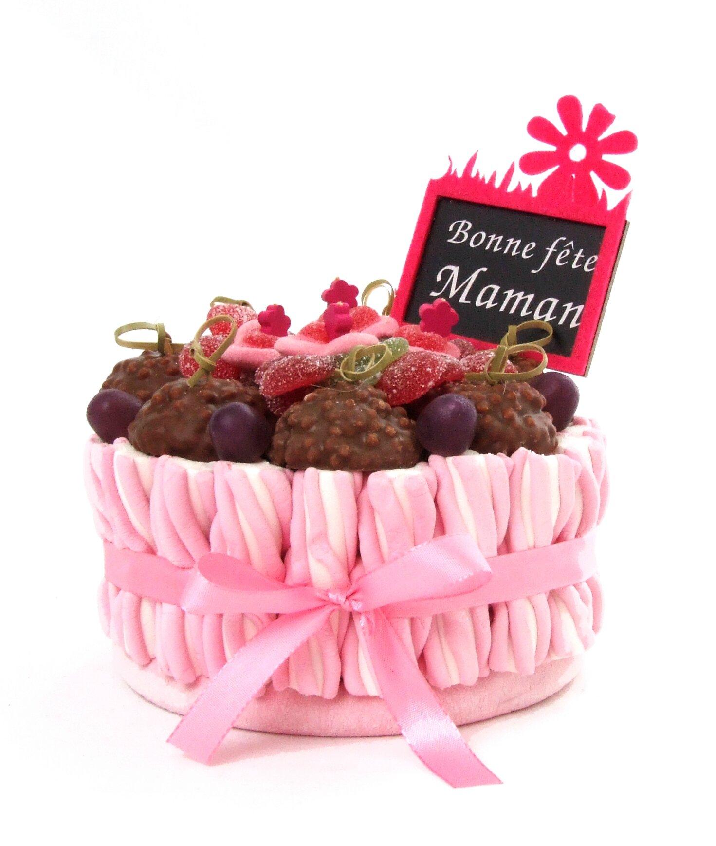 G teau de bonbons f te des m res g teaux de bonbons compositions de bonbons - Gateau pour la fete des meres ...