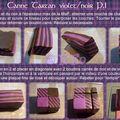 Tuto canne tartan violet