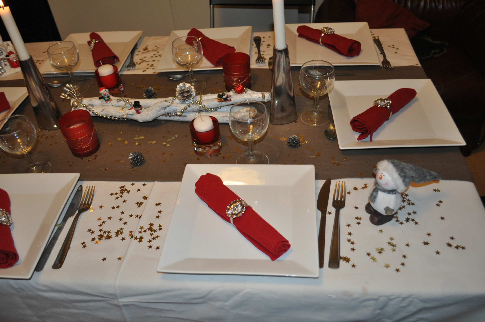 Decoration de table nouvel an 2013 les petits delices de - Decoration table reveillon jour de l an ...