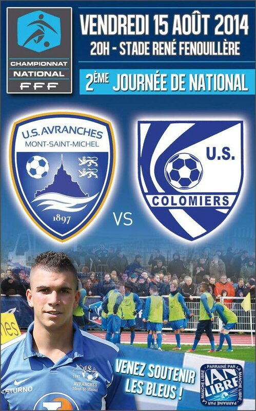 Football National Avranches Colomiers 15 août 2014
